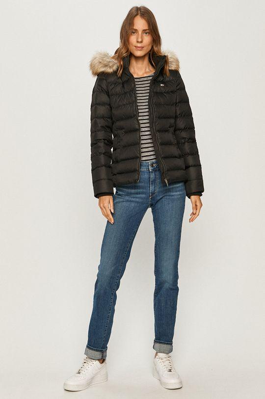 Tommy Jeans - Péřová bunda černá