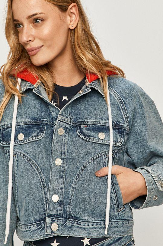 modrá Tommy Jeans - Rifľová bunda