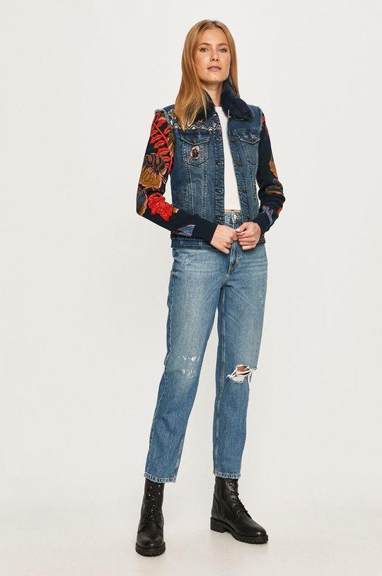 Desigual - Kurtka jeansowa niebieski