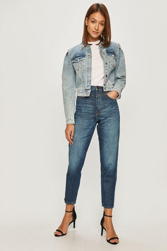 Guess Jeans - Rifľová bunda modrá