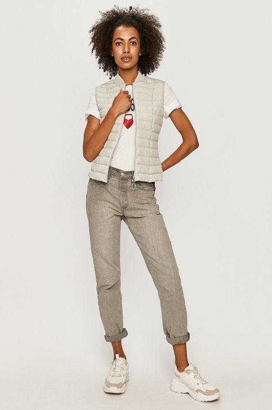 Guess Jeans - Bezrękawnik jasny szary
