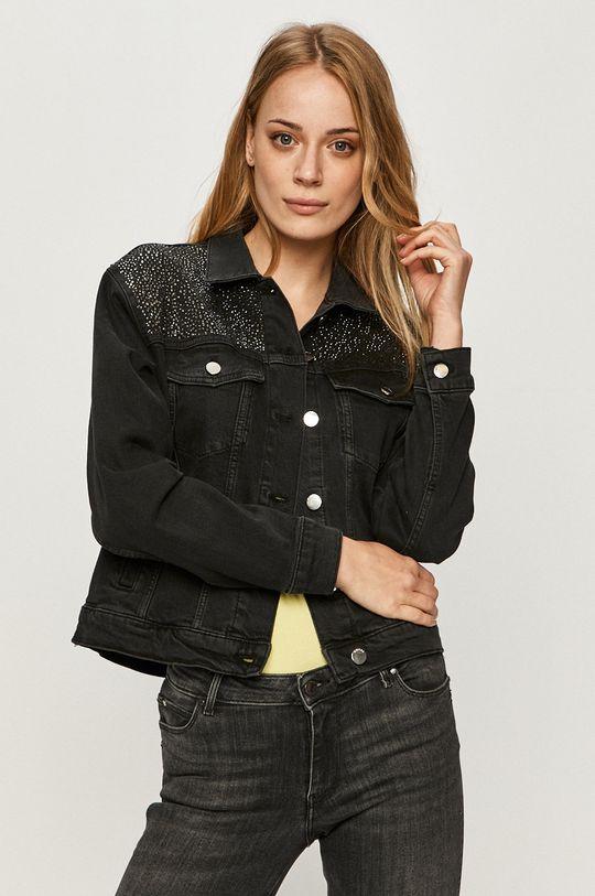 černá Guess Jeans - Džínová bunda Dámský