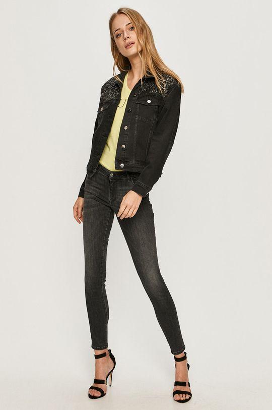 Guess Jeans - Džínová bunda černá