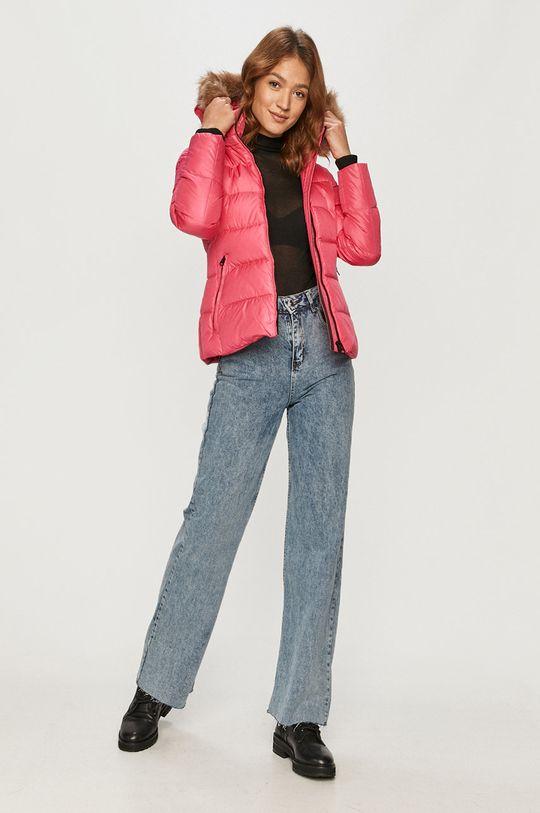 Calvin Klein - Kurtka puchowa ostry różowy