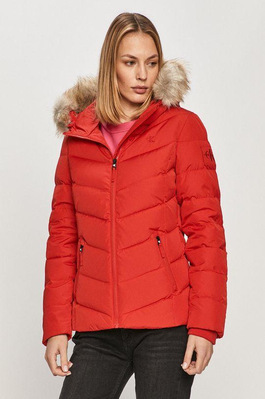 červená Calvin Klein Jeans - Péřová bunda Dámský
