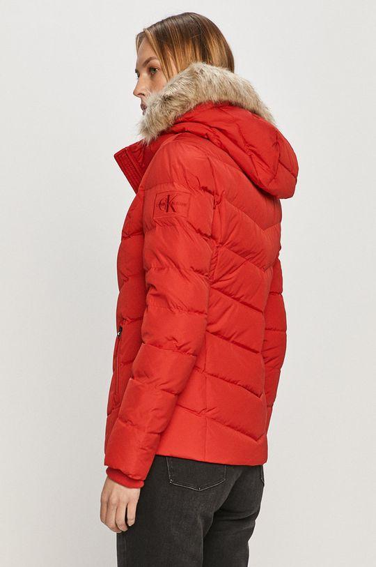 Calvin Klein Jeans - Péřová bunda  Podšívka: 100% Polyester Výplň: 30% Peří, 70% Chmýří Hlavní materiál: 100% Polyester Stahovák: 100% Bavlna
