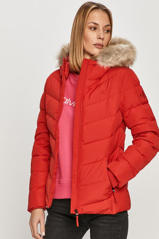 červená Calvin Klein Jeans - Péřová bunda