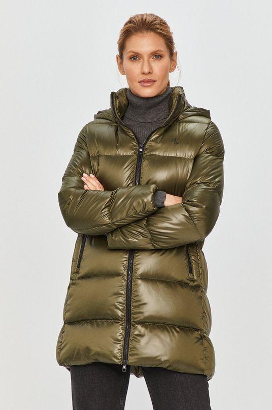 vojenská zelená Calvin Klein Jeans - Páperová bunda Dámsky