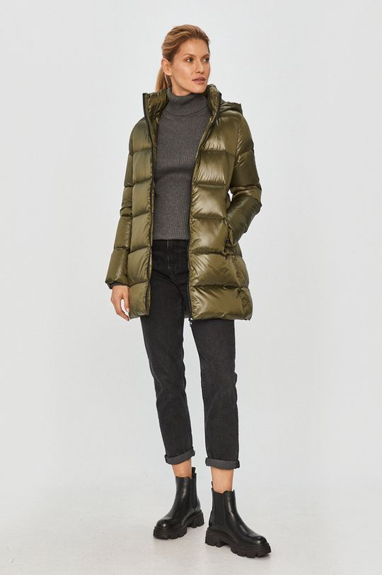 Calvin Klein Jeans - Páperová bunda vojenská zelená