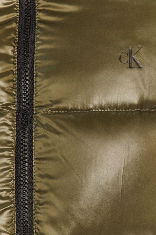 vojenská zelená Calvin Klein Jeans - Páperová bunda
