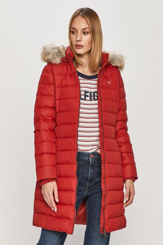 červená Tommy Jeans - Páperová bunda Dámsky