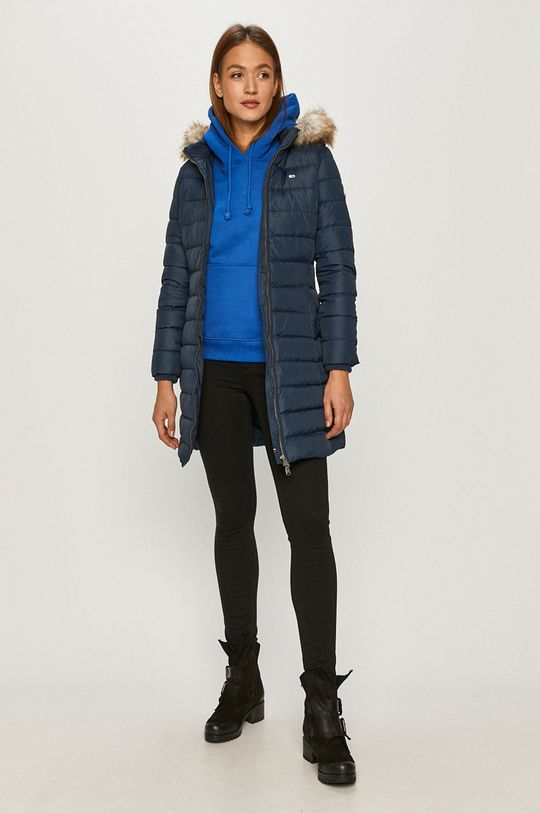 Tommy Jeans - Péřová bunda námořnická modř