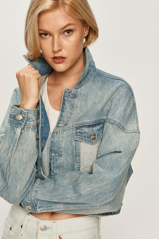 modrá Pepe Jeans - Rifľová bunda Volt Flow Dámsky