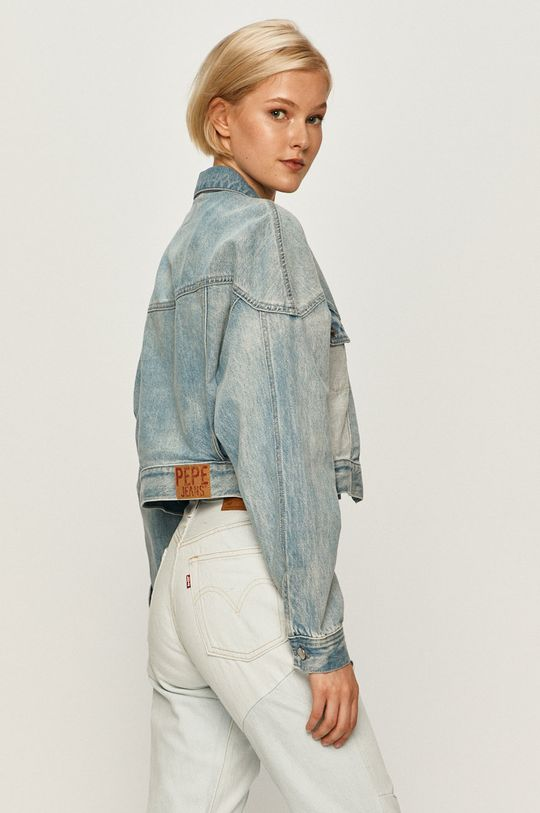 Pepe Jeans - Rifľová bunda Volt Flow  Podšívka: 35% Bavlna, 65% Polyester Základná látka: 90% Bavlna, 10% Organická bavlna