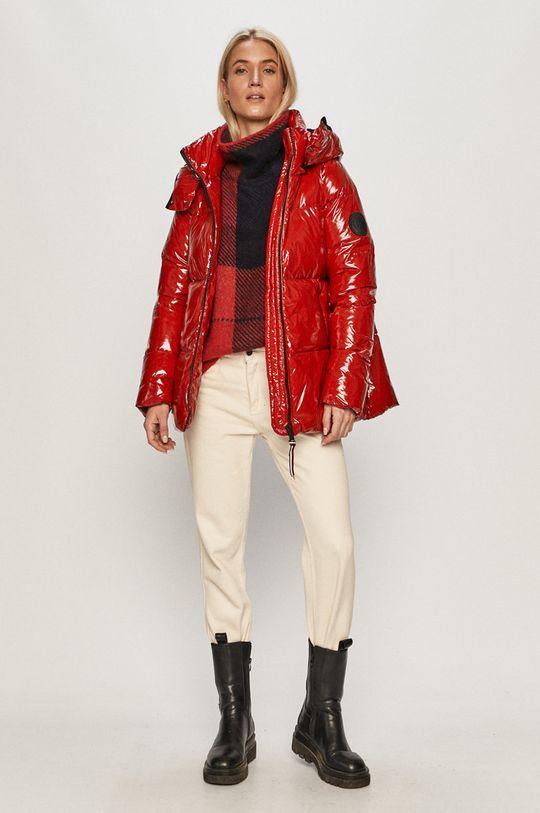 Tommy Hilfiger - Péřová bunda červená