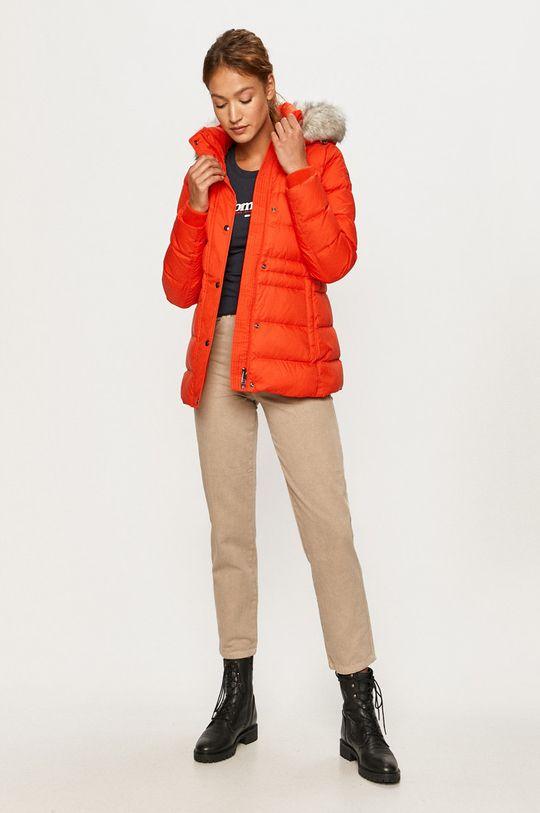 Tommy Hilfiger - Páperová bunda mandarínková