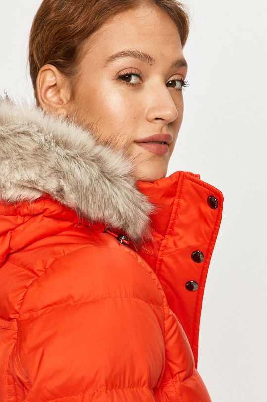 mandarínková Tommy Hilfiger - Páperová bunda