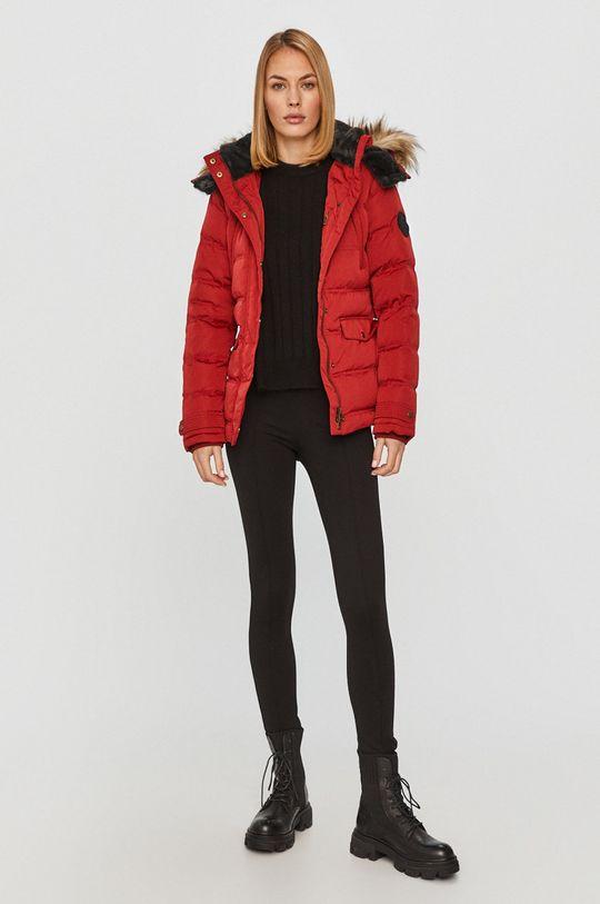 Pepe Jeans - Péřová bunda Almah červená