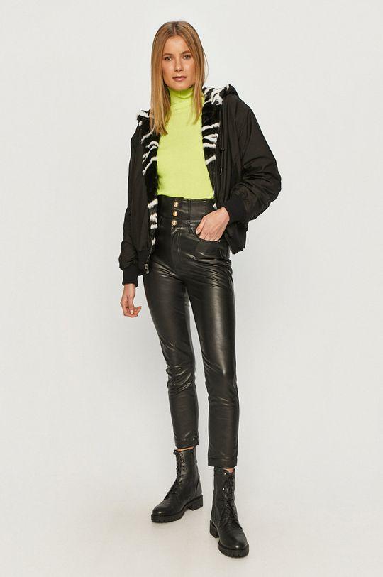 Karl Lagerfeld - Oboustranná bomber bunda <p>  Materiál č. 1: 100% Polyester  Materiál č. 2: 100% Modacryl  Stahovák: 1% Elastan, 93% Polyamid, 6% Polyester</p>