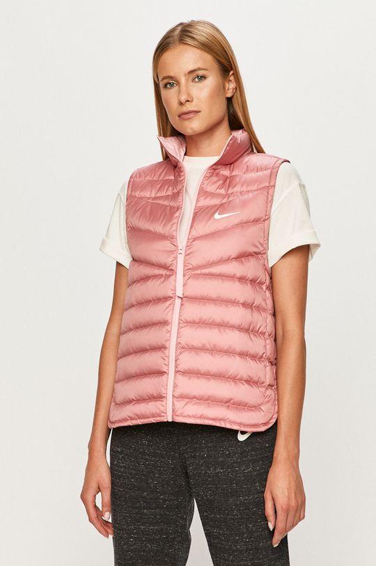 ružovo-červená Nike Sportswear - Páperová vesta Dámsky