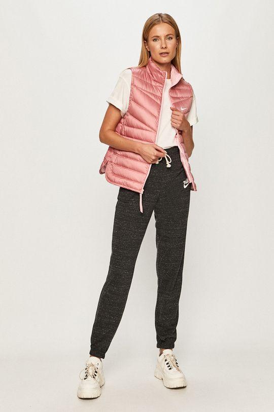 Nike Sportswear - Páperová vesta ružovo-červená