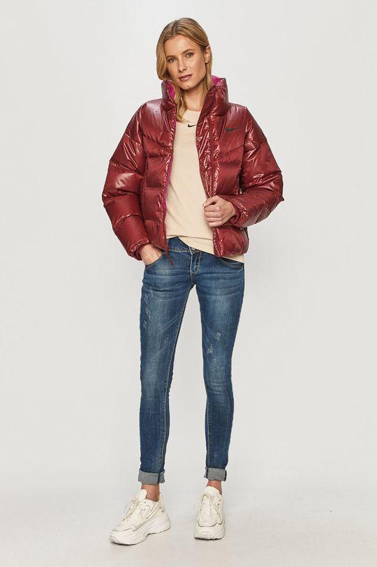 Nike Sportswear - Geaca de puf rosu