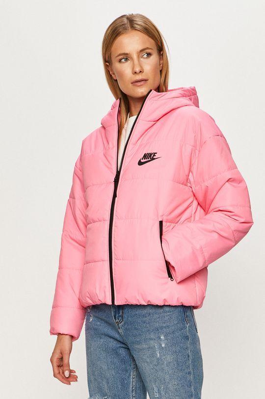 sýto ružová Nike Sportswear - Bunda Dámsky