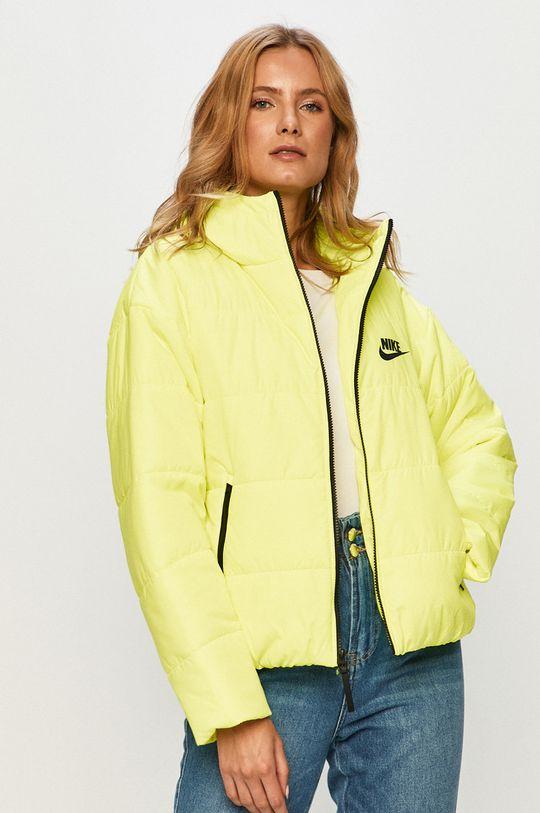 žlto-zelená Nike Sportswear - Bunda Dámsky