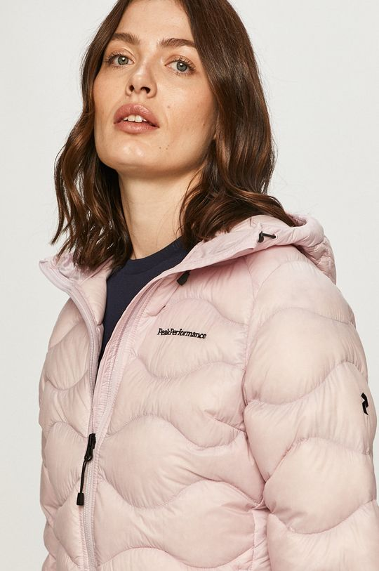 pastelově růžová Peak Performance - Péřová bunda