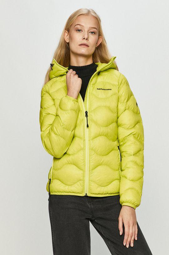 žlutě zelená Peak Performance - Péřová bunda Dámský