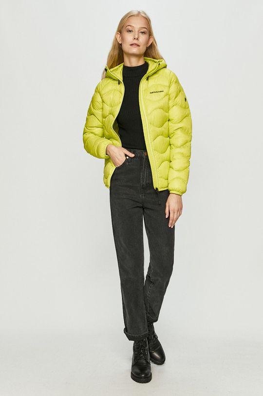 Peak Performance - Péřová bunda žlutě zelená