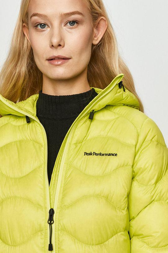 žlutě zelená Peak Performance - Péřová bunda