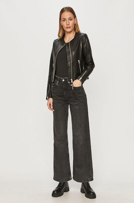 AllSaints - Kožená bunda černá