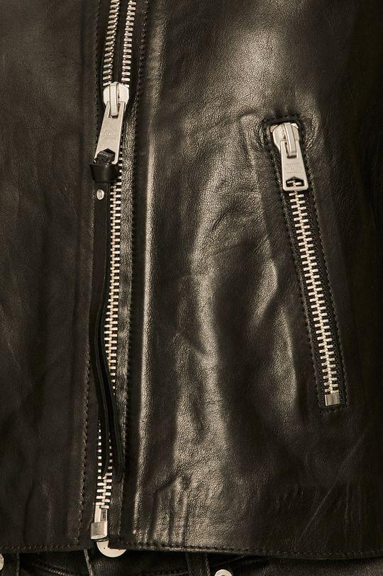 černá AllSaints - Kožená bunda