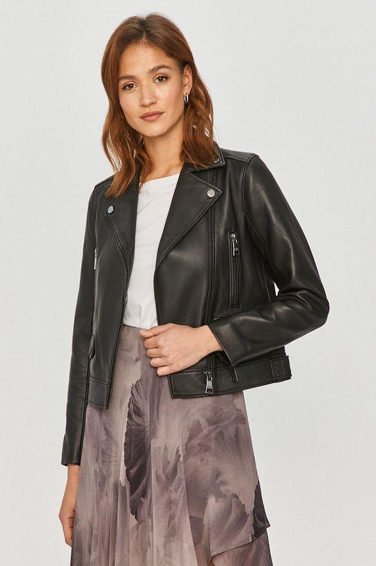 čierna Karl Lagerfeld - Kožená bunda Dámsky