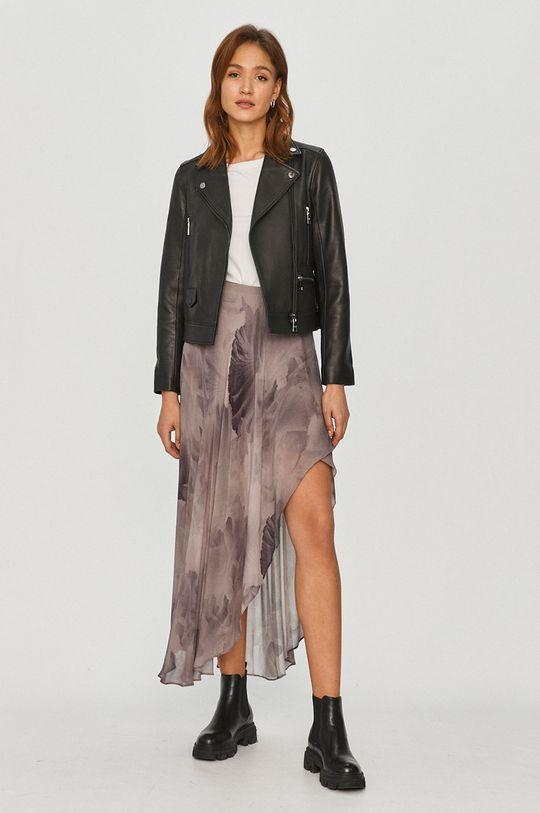 Karl Lagerfeld - Kožená bunda čierna