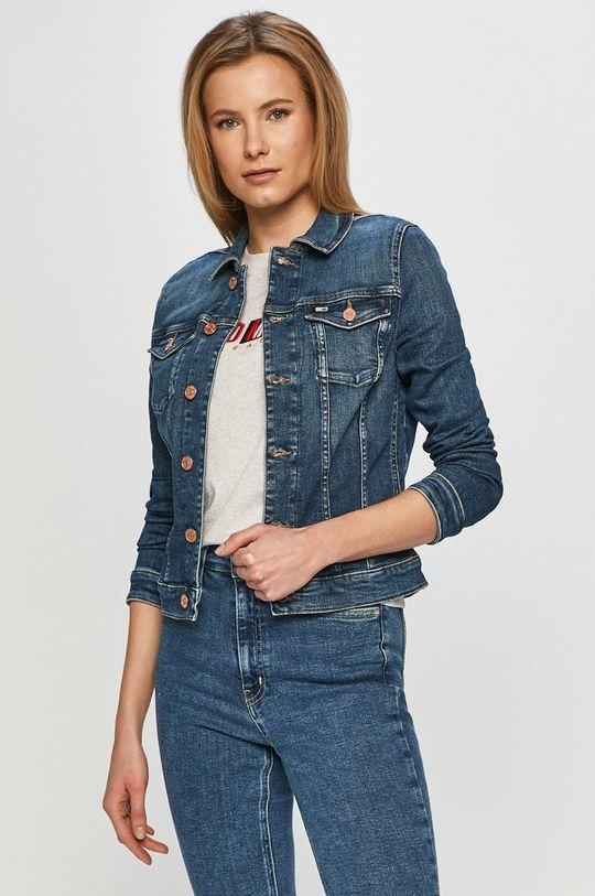 modrá Tommy Jeans - Džínová bunda Dámský