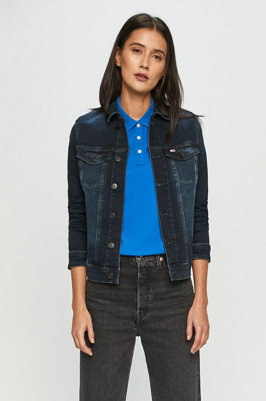 tmavomodrá Tommy Jeans - Rifľová bunda Dámsky