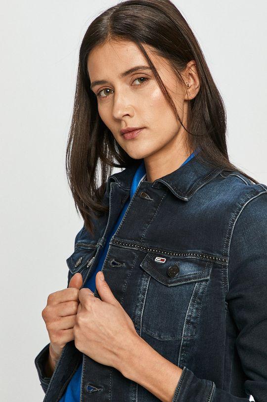 Tommy Jeans - Rifľová bunda tmavomodrá