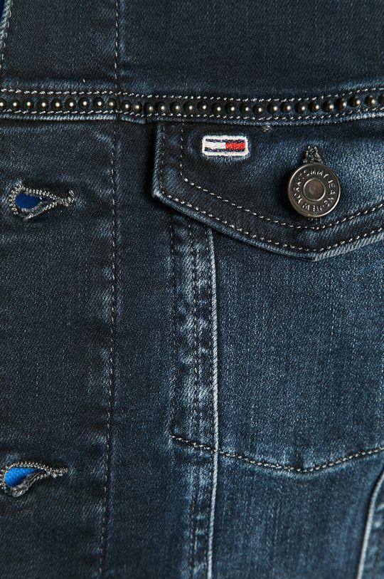 tmavomodrá Tommy Jeans - Rifľová bunda