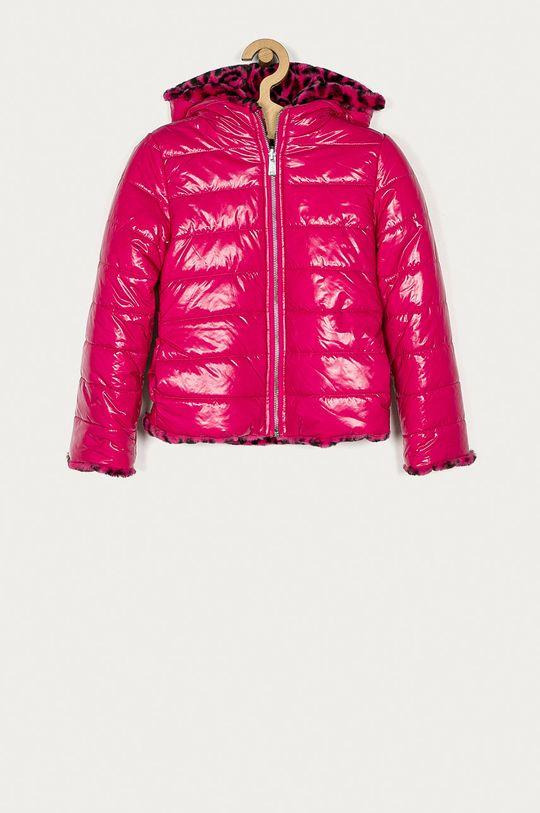 ostrá růžová Guess Jeans - Dětská oboustranná bunda 116-175 cm Dívčí