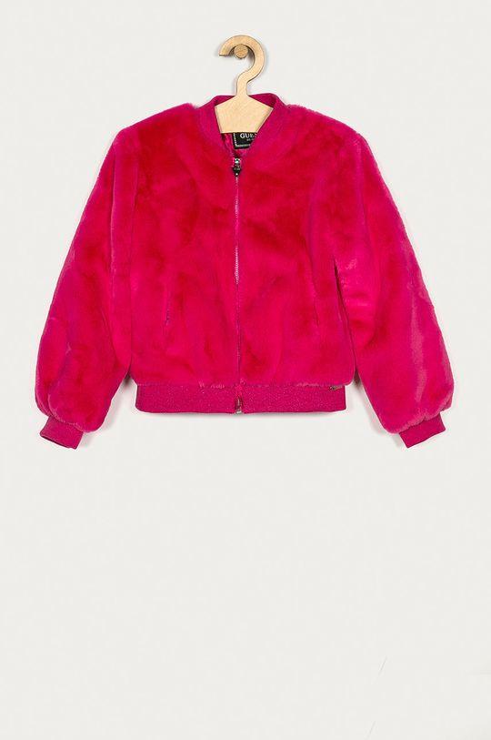 ostry różowy Guess Jeans - Kurtka bomber dziecięca 116-175 cm Dziewczęcy