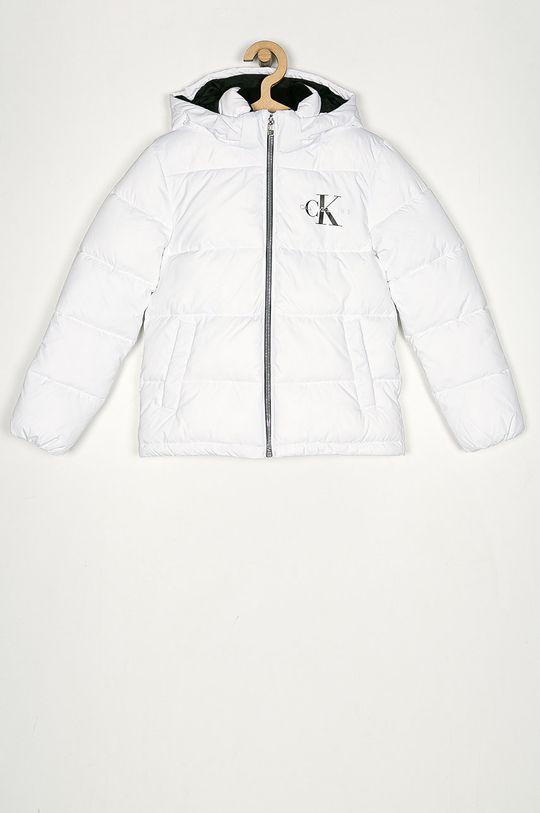 biały Calvin Klein Jeans - Kurtka dziecięca 104-176 cm Dziewczęcy