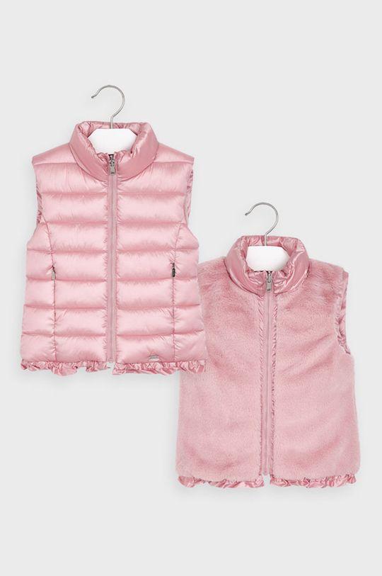 ružová Mayoral - Detská obojstranná vesta 92-134 cm Dievčenský