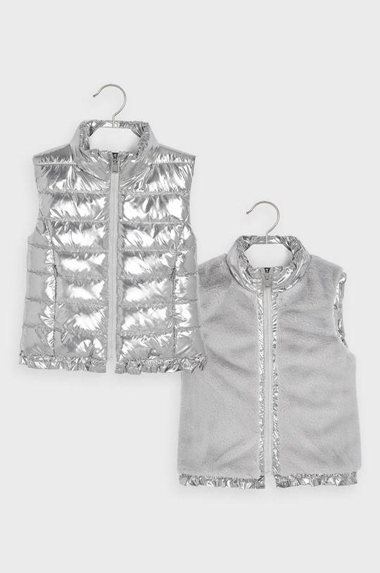 strieborná Mayoral - Detská obojstranná vesta 92-134 cm Dievčenský