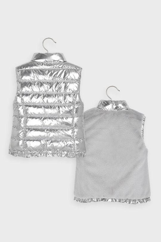 Mayoral - Detská obojstranná vesta 92-134 cm strieborná
