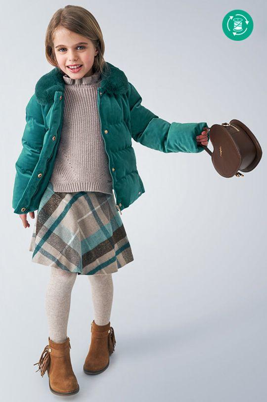 tyrkysová modrá Mayoral - Detská bunda 92-134 cm Dievčenský