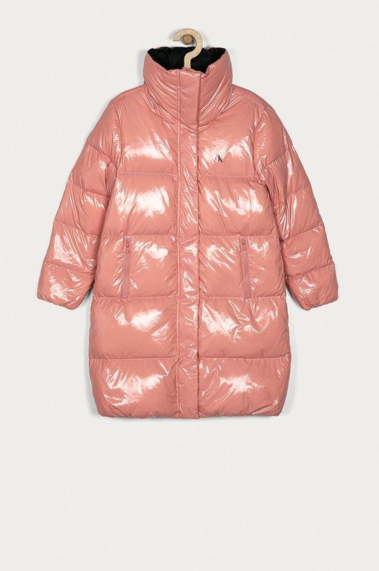 růžová Calvin Klein Jeans - Dětská péřová bunda 140-176 cm Dívčí