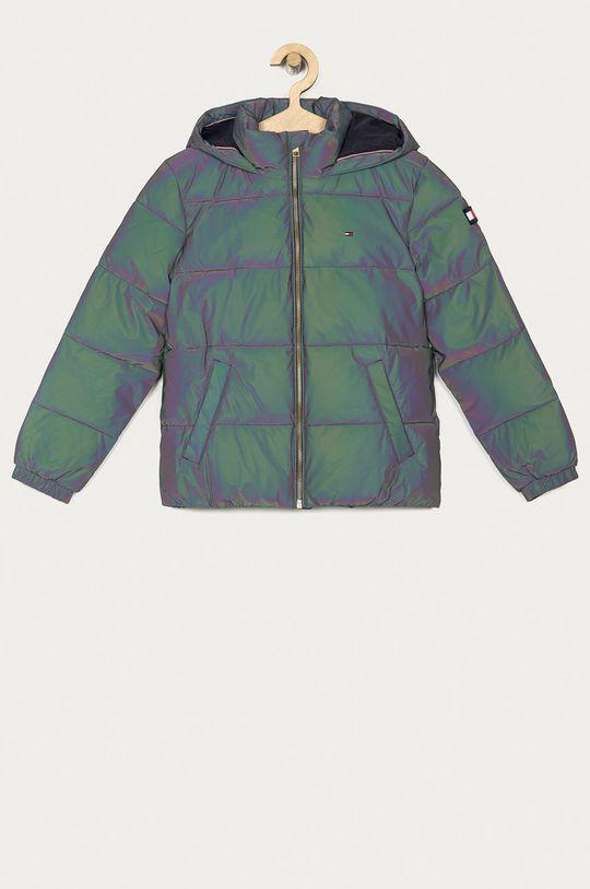 grafitová Tommy Hilfiger - Dětská bunda 140-176 cm Dívčí