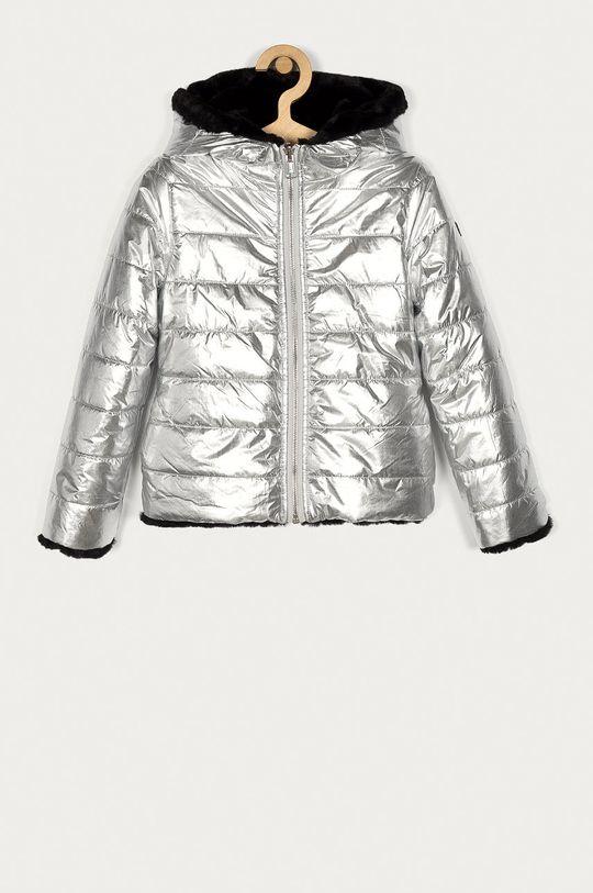 srebrny Guess - Kurtka dwustronna dziecięca 116-176 cm Dziewczęcy